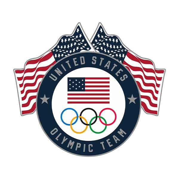US OLYMPIC TEAM FLAGS LAPEL PIN