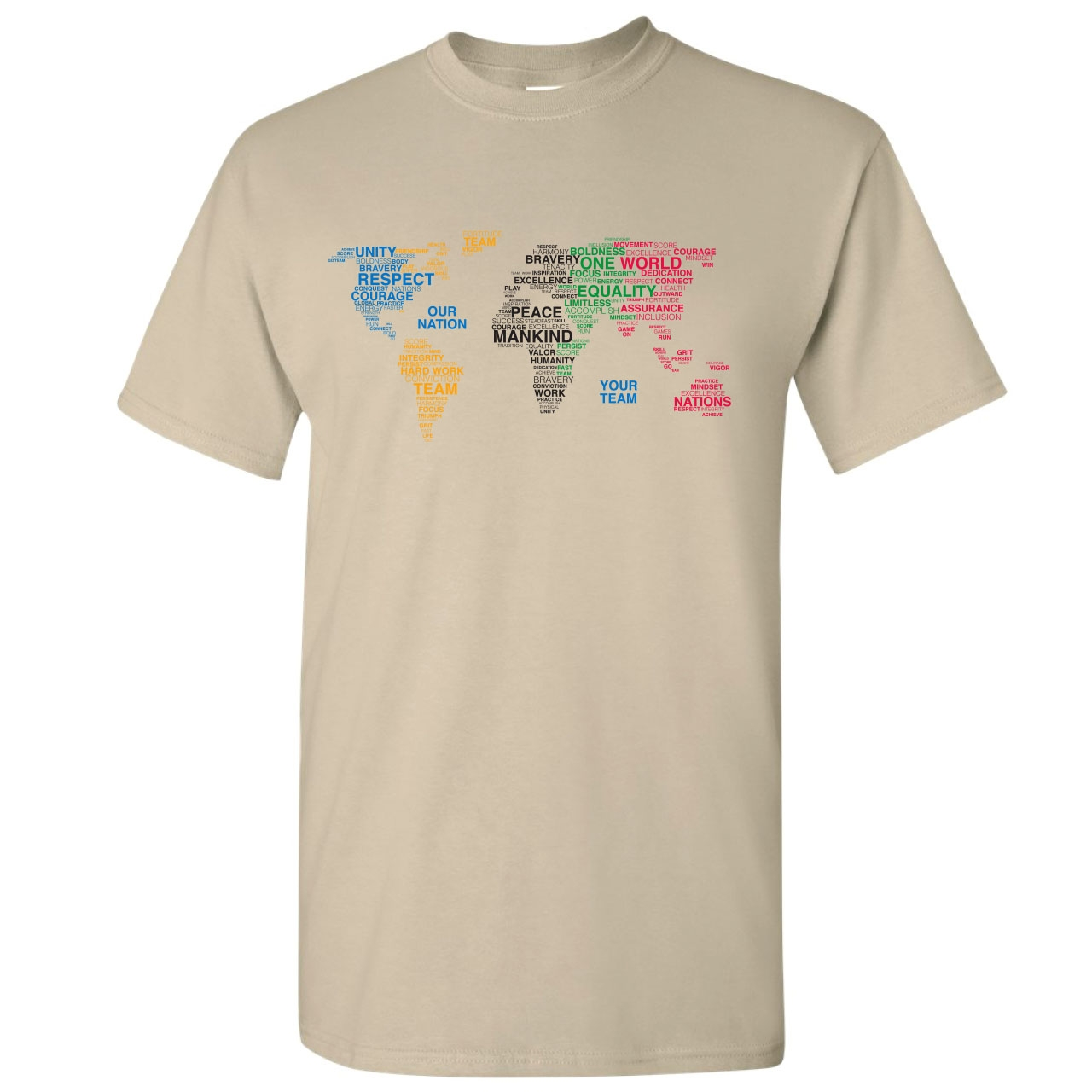 PARADE OF NATIONS CUSTOM ADULT T-SHIRT SAND