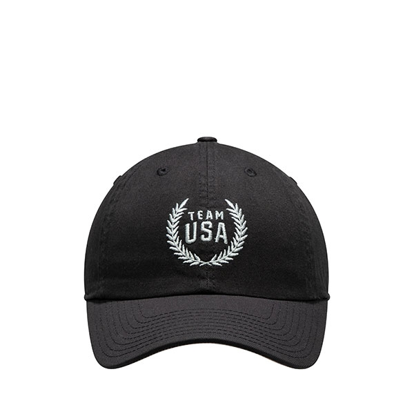 TEAM USA ADULT BLACK LATITUDE STRUCTURED HAT