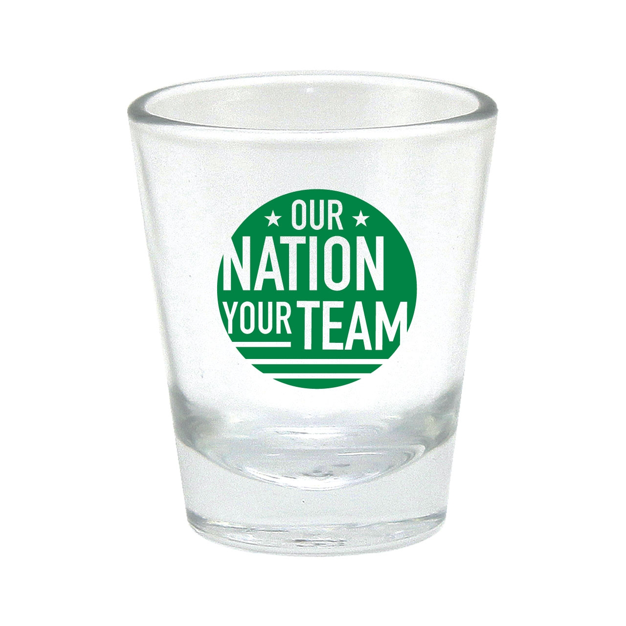 OUR NATION YOUR TEAM SHOT GLASS GREEN