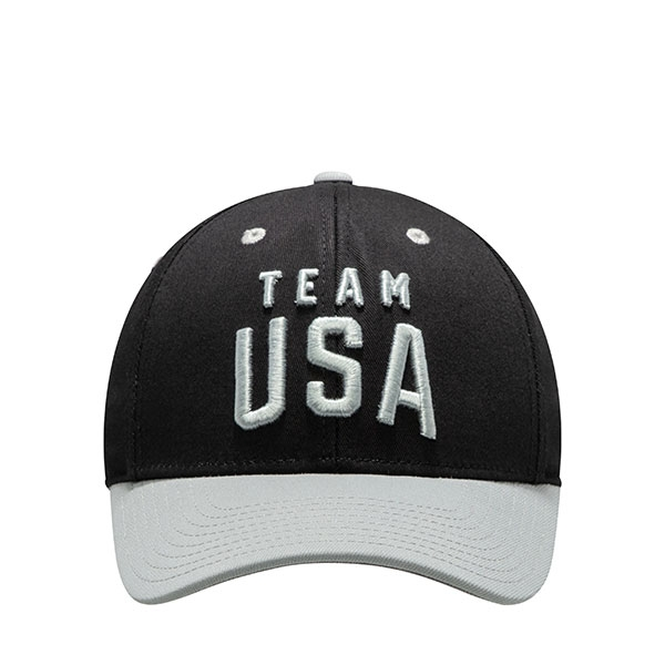 TEAM USA ADULT TWO-TONE BLACK LATITUDE STRUCTURED HAT