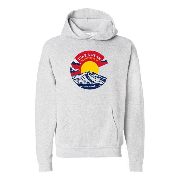 ADULT PIKES PEAK HOOD SWEATSHIRT