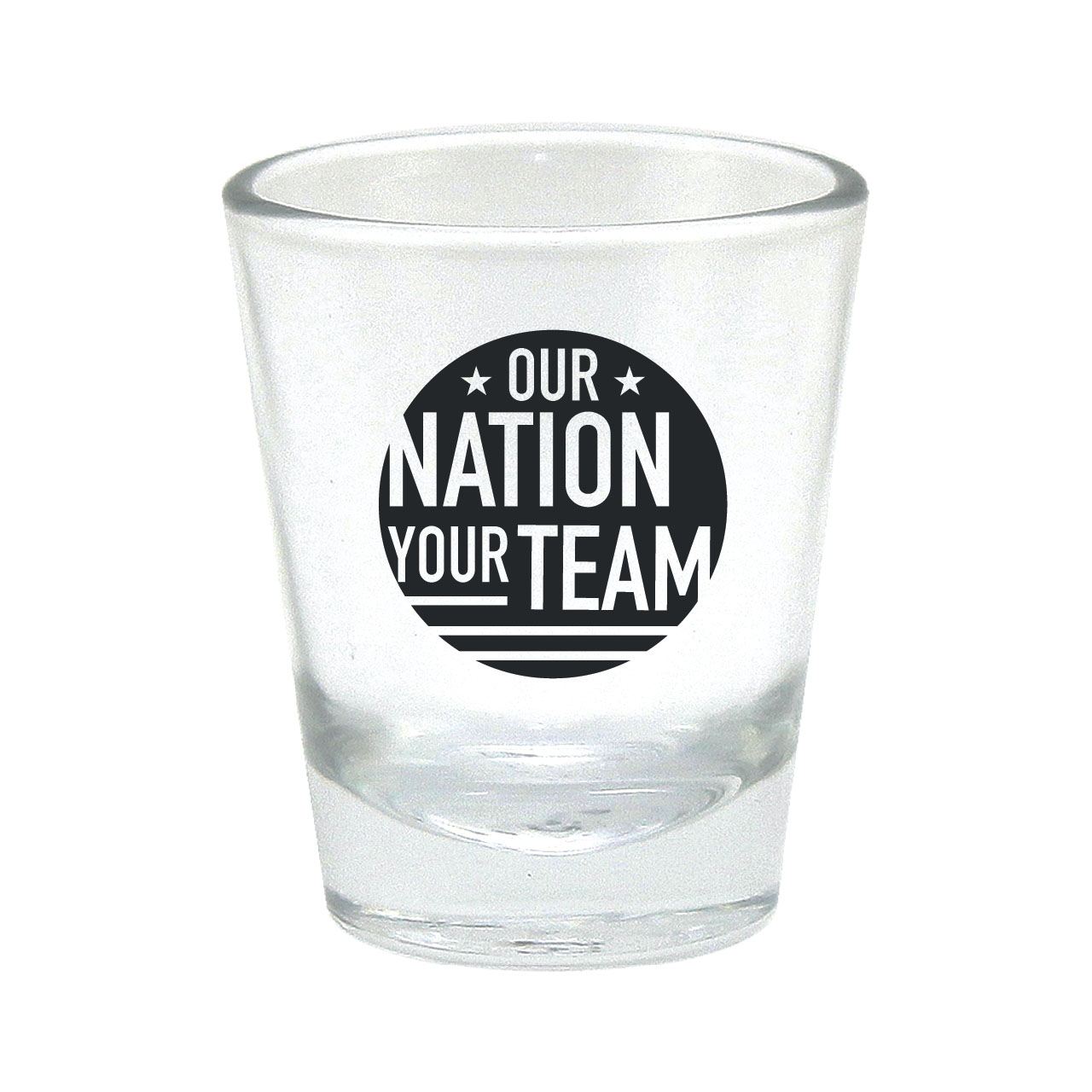 OUR NATION YOUR TEAM SHOT GLASS BLACK