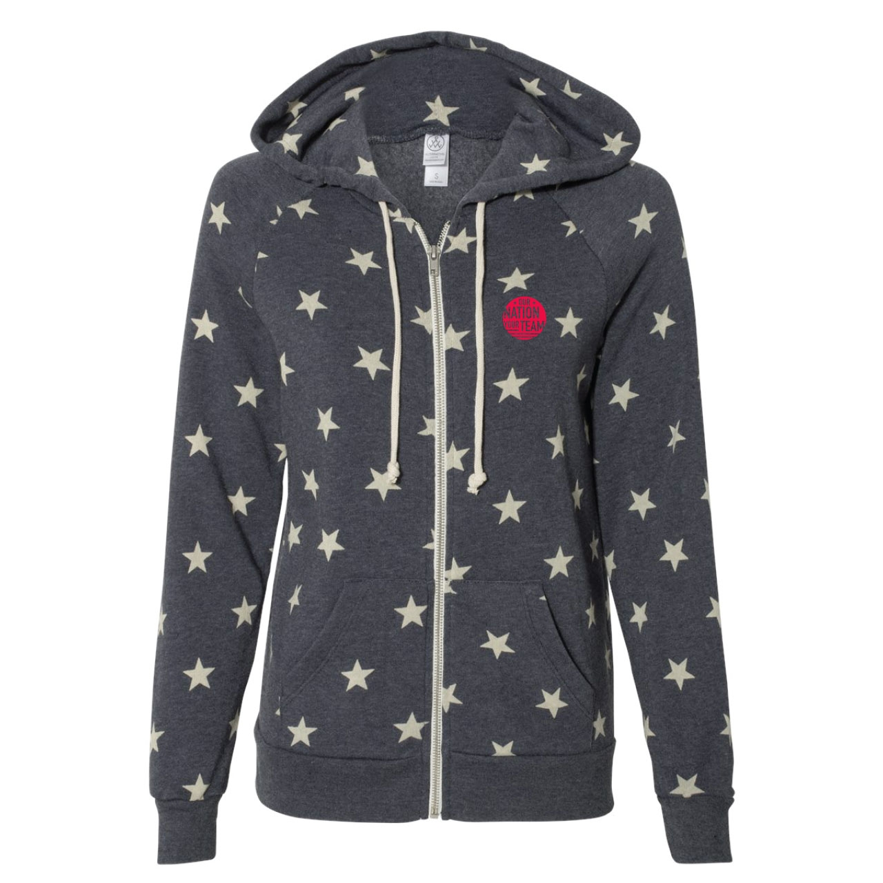 LADIES PARADE OF NATIONS CUSTOM  STAR HOODY