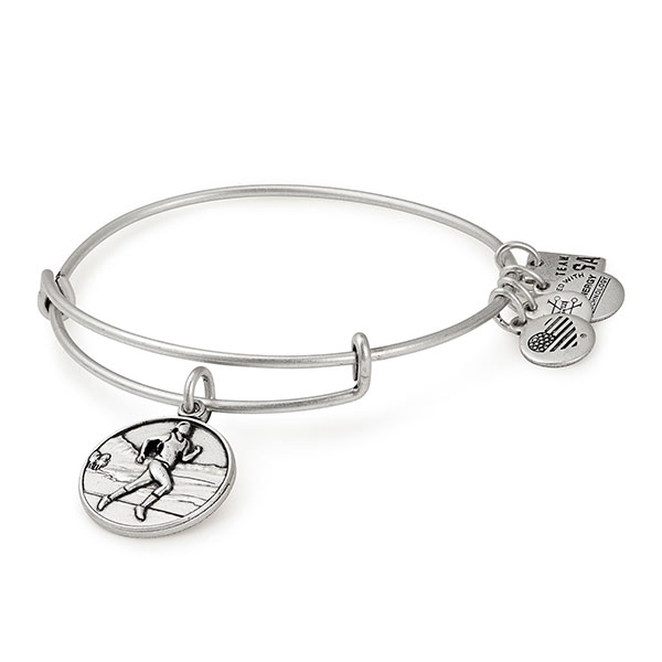 ALEX & ANI USA TRACK AND FIELD BANGLE BRACELET