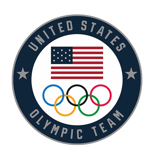 US OLYMPIC TEAM NAVY LAPEL PIN