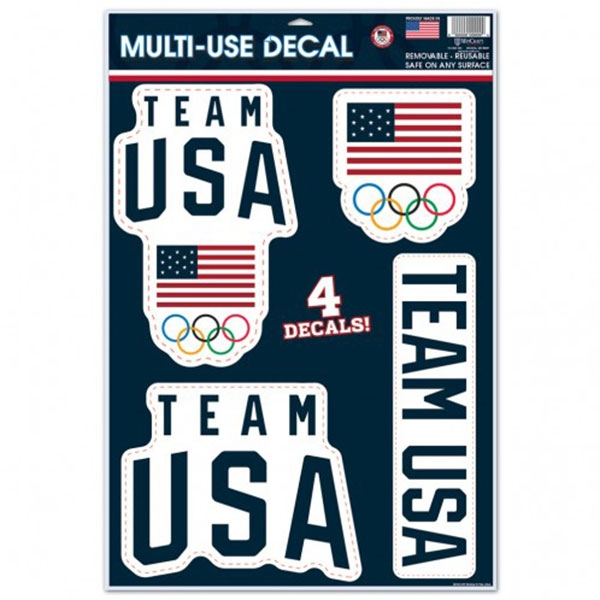 TEAM USA DECAL 4 PACK