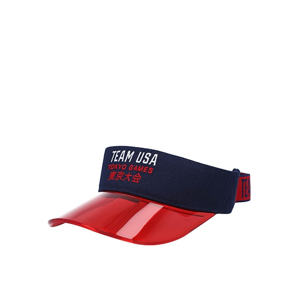 ADULT TEAM USA RED & BLUE VISOR