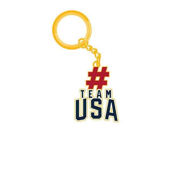 TEAM USA HASHTAG KEY CHAIN