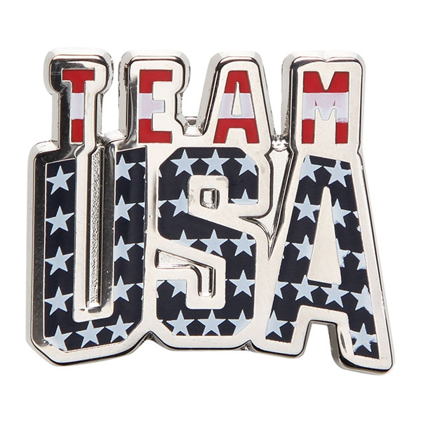 TEAM USA BANNER WAVE LAPEL PIN