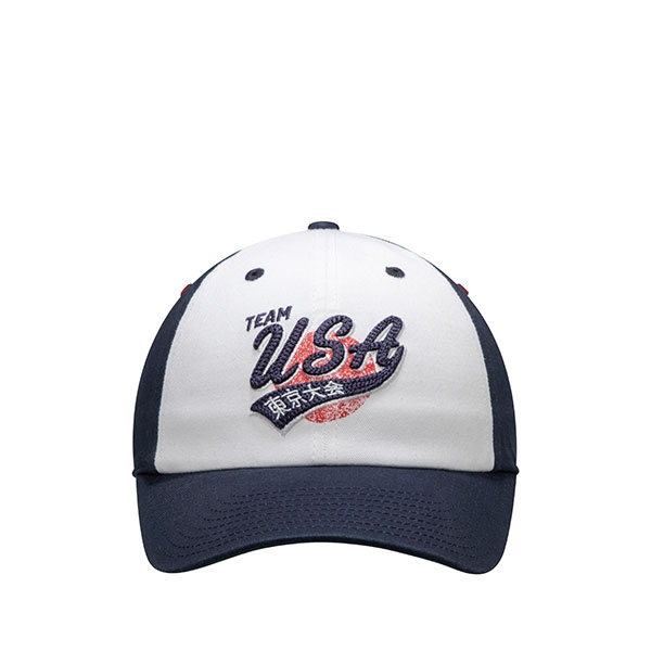ADULT TEAM USA WHITE/NAVY SWEEP SLOUCH HAT