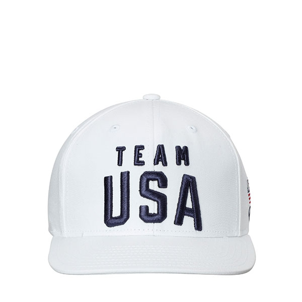 TEAM USA ADULT ADJUSTABLE HAT WHITE