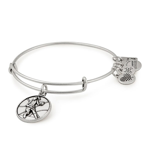 ALEX & ANI USA BASKETBALL BANGLE BRACELET