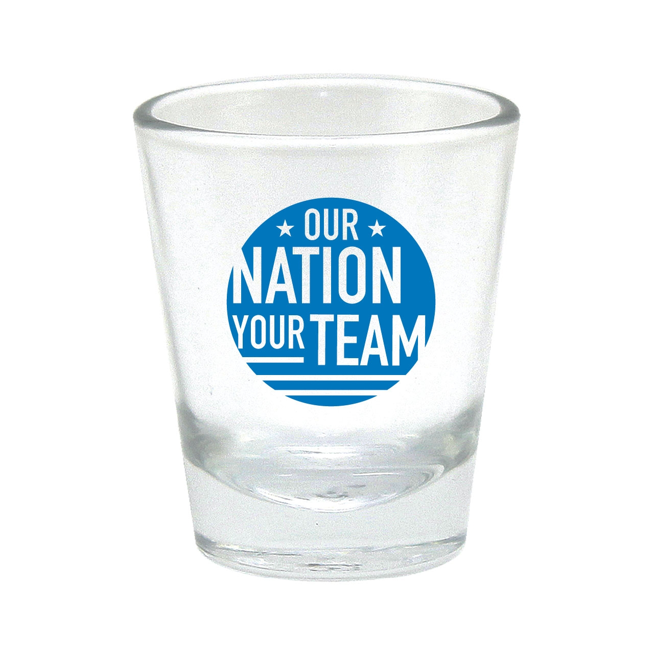 OUR NATION YOUR TEAM SHOT GLASS BLUE